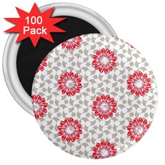Stamping Pattern Fashion Background 3  Magnets (100 pack)