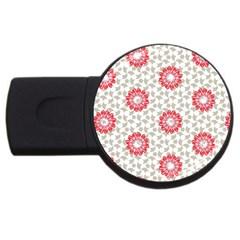 Stamping Pattern Fashion Background USB Flash Drive Round (1 GB)