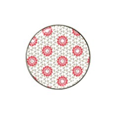 Stamping Pattern Fashion Background Hat Clip Ball Marker (4 Pack)