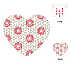 Stamping Pattern Fashion Background Playing Cards (heart)