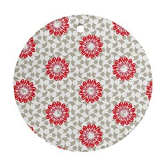 Stamping Pattern Fashion Background Round Ornament (Two Sides)