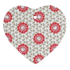 Stamping Pattern Fashion Background Heart Ornament (Two Sides)