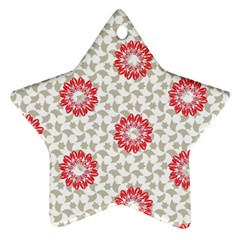 Stamping Pattern Fashion Background Star Ornament (two Sides)