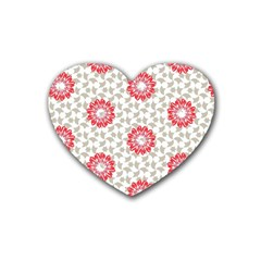 Stamping Pattern Fashion Background Rubber Coaster (Heart)
