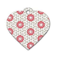Stamping Pattern Fashion Background Dog Tag Heart (one Side)