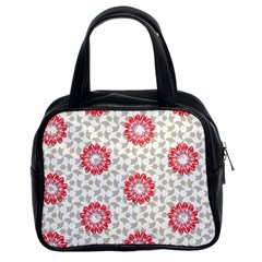 Stamping Pattern Fashion Background Classic Handbags (2 Sides)