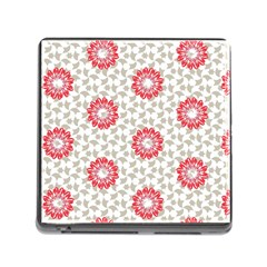 Stamping Pattern Fashion Background Memory Card Reader (Square)