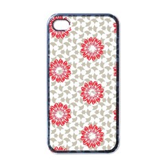 Stamping Pattern Fashion Background Apple iPhone 4 Case (Black)