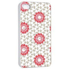 Stamping Pattern Fashion Background Apple Iphone 4/4s Seamless Case (white)
