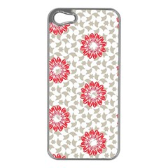 Stamping Pattern Fashion Background Apple Iphone 5 Case (silver)