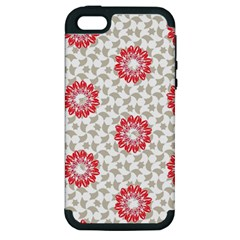 Stamping Pattern Fashion Background Apple Iphone 5 Hardshell Case (pc+silicone)