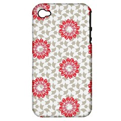 Stamping Pattern Fashion Background Apple iPhone 4/4S Hardshell Case (PC+Silicone)