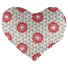 Stamping Pattern Fashion Background Large 19  Premium Heart Shape Cushions