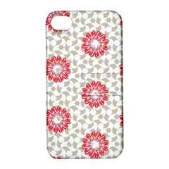 Stamping Pattern Fashion Background Apple iPhone 4/4S Hardshell Case with Stand