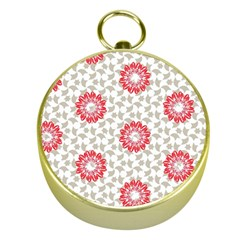 Stamping Pattern Fashion Background Gold Compasses