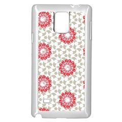 Stamping Pattern Fashion Background Samsung Galaxy Note 4 Case (White)