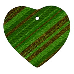 Stripes Course Texture Background Ornament (Heart)