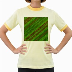 Stripes Course Texture Background Women s Fitted Ringer T-Shirts