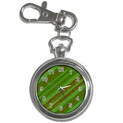 Stripes Course Texture Background Key Chain Watches