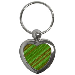 Stripes Course Texture Background Key Chains (heart)