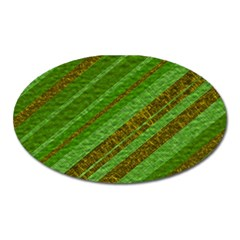 Stripes Course Texture Background Oval Magnet