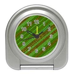 Stripes Course Texture Background Travel Alarm Clocks