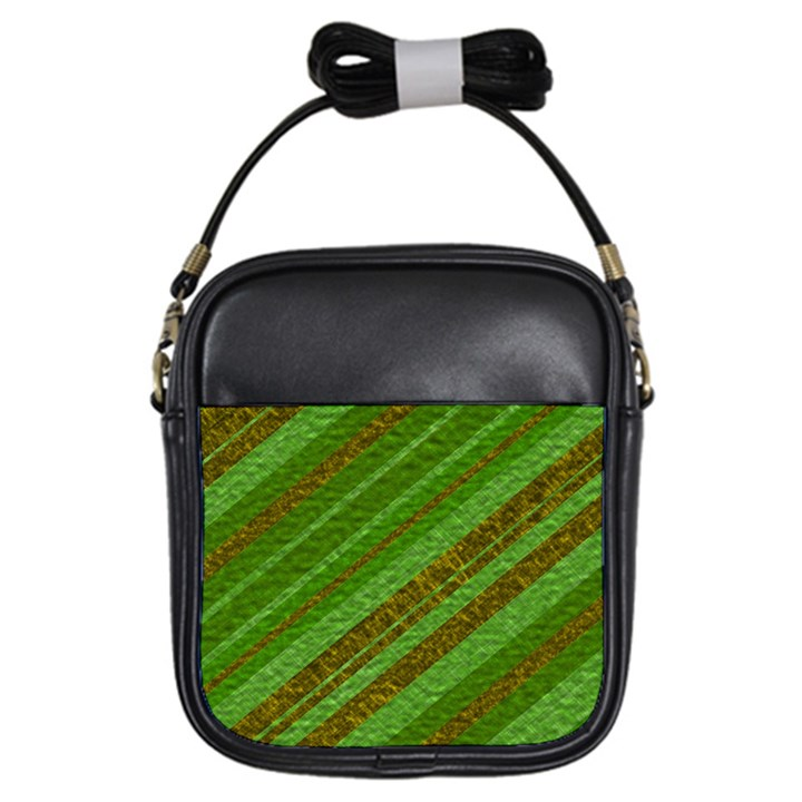 Stripes Course Texture Background Girls Sling Bags