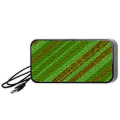 Stripes Course Texture Background Portable Speaker (Black)