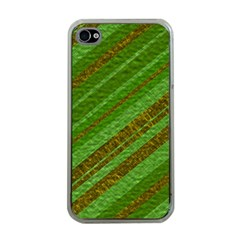 Stripes Course Texture Background Apple iPhone 4 Case (Clear)