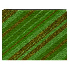 Stripes Course Texture Background Cosmetic Bag (XXXL)