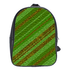 Stripes Course Texture Background School Bags (xl)