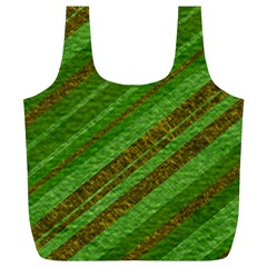 Stripes Course Texture Background Full Print Recycle Bags (l)