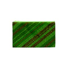 Stripes Course Texture Background Cosmetic Bag (xs)