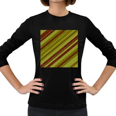 Stripes Course Texture Background Women s Long Sleeve Dark T Shirts