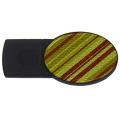 Stripes Course Texture Background Usb Flash Drive Oval (4 Gb)