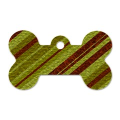 Stripes Course Texture Background Dog Tag Bone (One Side)