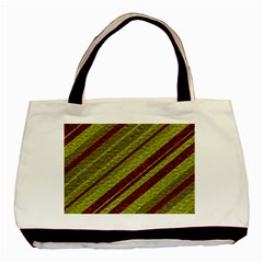 Stripes Course Texture Background Basic Tote Bag (Two Sides)