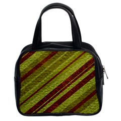 Stripes Course Texture Background Classic Handbags (2 Sides)