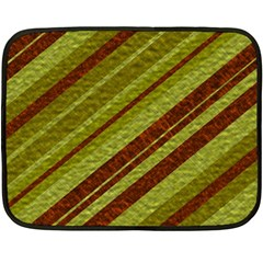 Stripes Course Texture Background Double Sided Fleece Blanket (Mini)