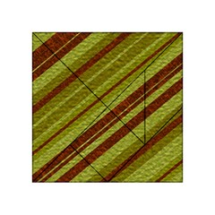 Stripes Course Texture Background Acrylic Tangram Puzzle (4  X 4 )