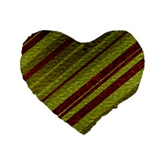 Stripes Course Texture Background Standard 16  Premium Heart Shape Cushions