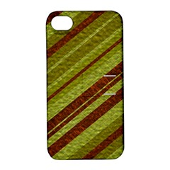 Stripes Course Texture Background Apple iPhone 4/4S Hardshell Case with Stand