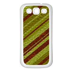 Stripes Course Texture Background Samsung Galaxy S3 Back Case (white)