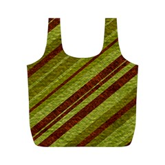 Stripes Course Texture Background Full Print Recycle Bags (m)