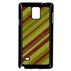 Stripes Course Texture Background Samsung Galaxy Note 4 Case (Black)