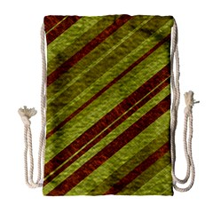 Stripes Course Texture Background Drawstring Bag (Large)