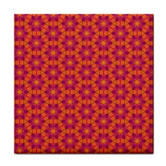 Pattern Abstract Floral Bright Tile Coasters