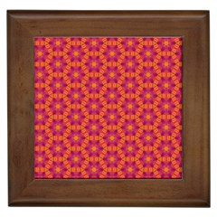 Pattern Abstract Floral Bright Framed Tiles