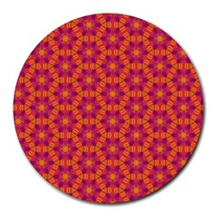 Pattern Abstract Floral Bright Round Mousepads