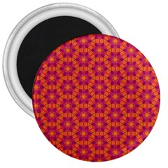 Pattern Abstract Floral Bright 3  Magnets